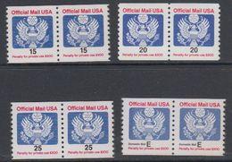USA Official Mail 4v (pair) ** Mnh (40747E) - Dienstzegels