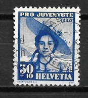 1940 Switzerland 30+10 Pro Juventute Used/gebruikt/oblitere - Oblitérés