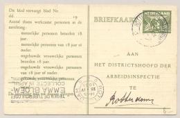 Nederland - 1931 - 3 Cent Arbeidslijstkaart G15a Met KB-stempel ROTTERDAM - 's GRAVENDIJKWAL / 4 - Poststempels/ Marcofilie