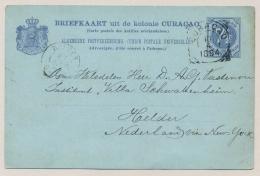 Curacao - 1894 - 7,5 Cent Cijfer, Briefkaart G13 Echt Gebruikt Van VK Curacao Naar KR HELDER - Curaçao, Nederlandse Antillen, Aruba