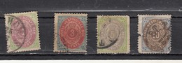 Antilles Danoises  Chiffres  4 Valeurs - Denmark (West Indies)