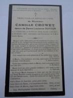 Réf: 41-17-48.       Mr CROWET Camille époux De Dame DUFOUR Lucienne.  VIRELLES - CHIMAY. - Décès
