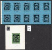 Venezuela 1964 St Thomas La Guaira Stamp Centenary Commem Labels And Sheetlet Ship Packet Boat - Venezuela