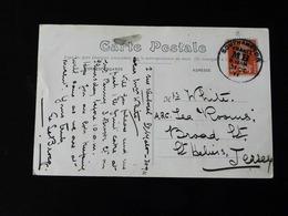 CACHET SOUTHAMPTON SUR 10 C  SEMEUSE SUR CPA. A DESTINATION DE JERSEY  - - Postmark Collection (Covers)