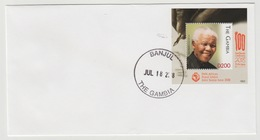 Gambie Gambia 2018 Mi. ? FDC S/S Joint Issue PAN African Postal Union Nelson Mandela Madiba 100 Years - Gambie (1965-...)