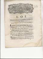 LOI N° 1744 - DE 1792 -  RELATIVE A LA CONFECTION ET ENTRETIEN DES ROUTES - Décrets & Lois