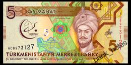 TURKMENISTAN 5 MANAT 2017 Pick 37 Unc - Turkmenistan