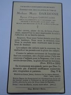Réf: 41-17-35.     Mme DARDENNE  Marie épouse LAFONTAINE Auguste  CULDESSARTS   BOURLERS - Décès