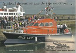 """Station De Sauvetage De L'île De CROIX  Baptême De La  SNS 147 """" Notre Dame Du Calme """" à PORT-TUDY - Autres Communes"""
