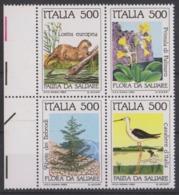 #14// ITALIE 1985 4 Timbres  Bloc NEUF** Fauna Flora Da Salvare Faune Flore En Danger - 1981-90: Nieuw/plakker