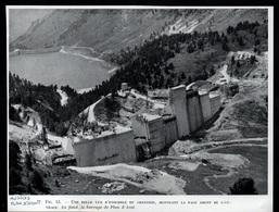 1958  --  CHANTIER DU BARAGE D AUSSOIS PLAN D AMONT    3P884 - Non Classificati