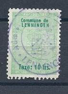 Taxe Communale Lenningen - 10 Francs (Cachet Administration Communale) - Fiscaux