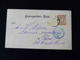 ENTIER POSTAL  WIEN   -  CACHET BLEU   PARIS - ETRANGER  -  1888  - - Marcophilie (Lettres)