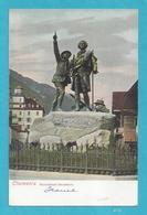 Chamonix, France - Monument Saussure - Unposted Vintage Postcard [#4175] - Historical Famous People