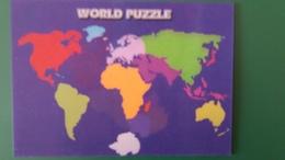 CPM 3 D RELIEF WORD PUZZLE GEOGRAPHIQUE MONDE - Fantasia