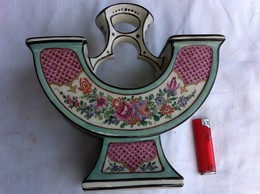 Bouquetiere XIX Siecle,travail De Samson,décor Main,très Belle Objet.porcelaine. - Popular Art