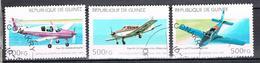 Aéroplanes N°1052 1055 1056 - Guinea (1958-...)