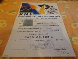 ATTESTATO  PROMOZIONE  CAPO CENTURIA-1938 - Diplomi E Pagelle