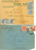 2 Frontales Con Fiscales 1936, Guerra Civil - Steuermarken/Dienstpost