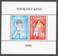 Netherlands Antilles 1986 Mi# Bl.30** CHILD WELFARE, SPORTS FOUNDATION - Curaçao, Antille Olandesi, Aruba