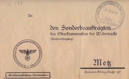 Lettre Préimprimée En Franchise De Mörchingen Alte Garnison(T 340) Le 24/9/43 - Marcophilie (Lettres)