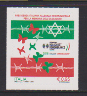 ITALY, 2018, MNH, WWII, HOLOCAUST, BUTTERFLIES, 1v - 2. Weltkrieg