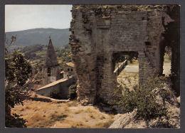 69504/ CRESTET, Ruines Du Château Et Le Clocher De L'Eglise Du Village - France