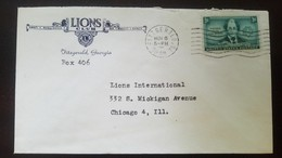 O) 1948 UNITED STATES - USA, JULIETTE GORDON LOW-FOUNDER OF GIRLS SCOUT IN AMERICA, SCOTT 974 3c, LIONS CLUB, TO CHICAGO - Brieven En Documenten