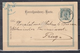 Correspondenz-Karte Van Schwertberg Naar Prag - Briefe U. Dokumente