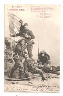 11è Bat. Chasseurs Alpins- Drapeau- Bergeret, Nancy (C.6994) - Militaria