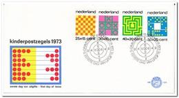 Nederland 1973, FDC 129, Children Stamps - FDC