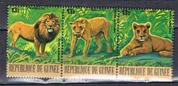 P.A. Lions Et Lionnes N°131 à 133 - Guinea (1958-...)