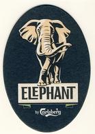 2 Sous Bocks , Bierviltje, Bierdeckel, Beer Coaster, Carton, ELEPHANT By CARLSBERG  Danemark - Beer Mats