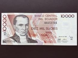 ECUADOR P127 10000 SUCRES 30.07.1988 UNC - Equateur
