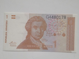 Billete Croacia. 1 Dinar. 1991. Sin Circular - Croacia