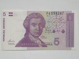 Billete Croacia. 5 Dinares. 1991. Sin Circular - Croacia