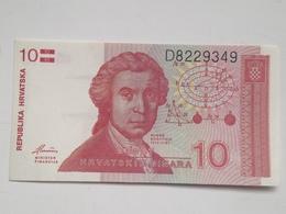 Billete Croacia. 10 Dinares. 1991. Sin Circular - Croatia