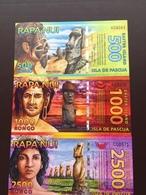 EASTER ISLAND 500.1000.2000 RONGO 2011 UNC - Rapa Nui