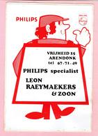 Sticker - PHILIPS Specialist LEON RAEYMAEKERS & ZOON - Vrijheid Arendonk - Stickers