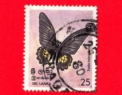 SRI LANKA - Usato - 1978 - Farfalle - Sri Lankan Birdwing (Troides Helena Darsius) - 25 - Sri Lanka (Ceylon) (1948-...)