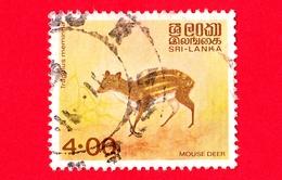 SRI LANKA - Usato - 1993 - Cervo Di Topo Indiano Macchiato (Tragulus Meminna) - Mouse Deer - 4.00 - Sri Lanka (Ceylon) (1948-...)