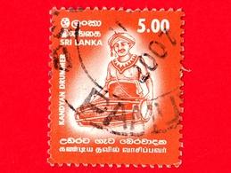 SRI LANKA - Usato - 2001 - Strumenti Musicali - Kandyani Drummer - 5.00 - Sri Lanka (Ceylon) (1948-...)