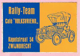 Sticker - Rally-Team - Café VOLKSVRIEND - Kapelstraat Zwijndrecht - Stickers