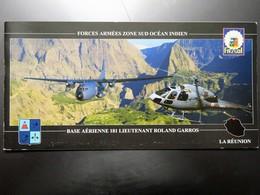 Carte Postale : LA REUNION : Forces Armées Zone Sud Océan Indien, Base Aérienne 181 Lieutenant Roland Garros - Non Classés