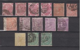 GREAT BRITAIN 1865-67 - Large White Control Letters, Different Watermarks - 1840-1901 (Victoria)