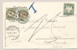 Schweiz - 1904 - 5c & 10c Portomarke On Postkarte From Deutschland To Neuchatel - Strafportzegels