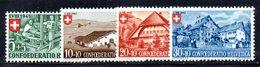 516/1500 - SVIZZERA 1945, Unificato N. 419/422 Con Gomma Integra ***  MNH Pro Patria - Nuovi