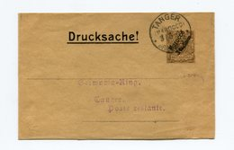 !!! PRIX FIXE : MAROC ALLEMAND, ENTIER POSTAL BANDE DE JOURNAL, CACHET DE TANGER DE 1901 - Offices: Morocco