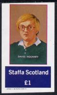 Staffa 1982 Artists (David Hockney) Imperf Souvenir Sheet (�1 Value) ARTS PERSONALITIES U/M - Local Issues
