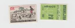 2 TIMBRES TCHAD ET MALI AVEC PUBLICITE AU DOS VIBEROL TYROTHRICINE - APAROXAL / 6990 - Collezioni (senza Album)